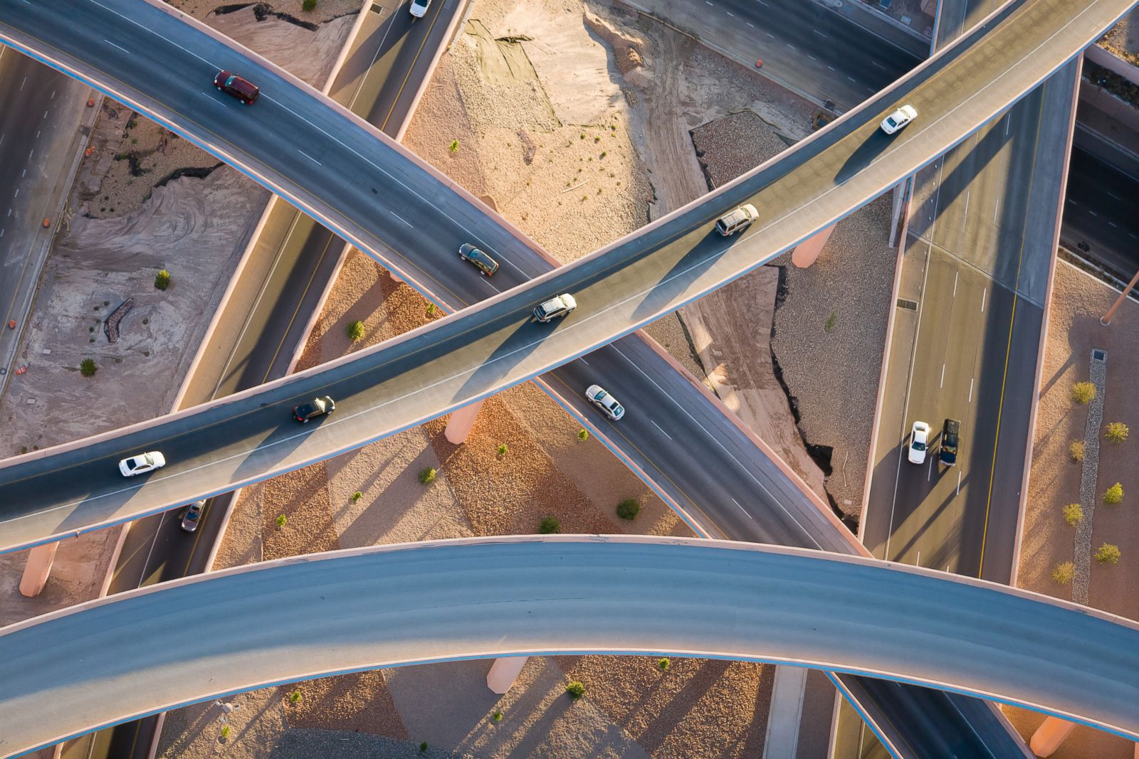 Interchanging-flyovers-in-Albuquerque-New-Mexico